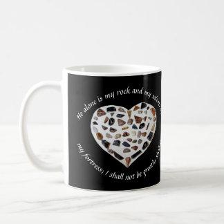 Rock of My Salvation Bible Verse Black Mug