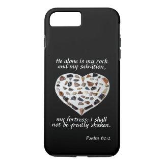 Rock of My Salvation Bible Verse Black Phone Case