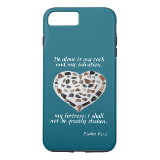 Rock of My Salvation Bible Verse Teal Phone Case