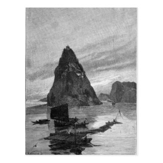 Rock of the Little Orphan on the Yangtze River Postcard