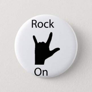 Rock on 2 inch round button