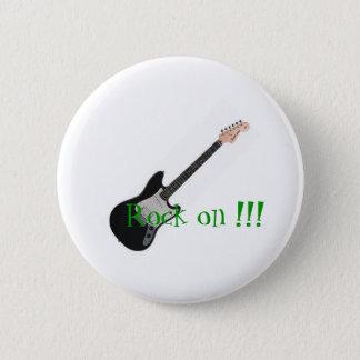 Rock on 2 inch round button