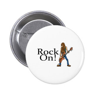 Rock On Pinback Buttons