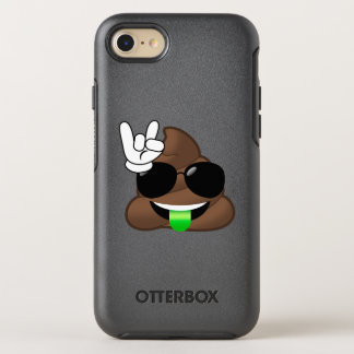 Rock On Cool Poop Emoji iPhone Case