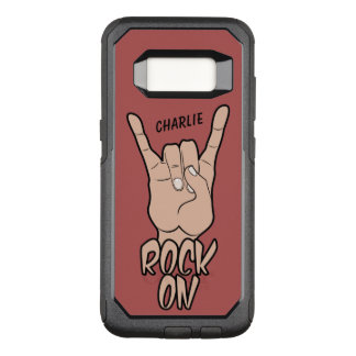 ROCK ON custom name & color phone cases