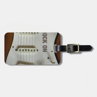 Rock On Electric Guitar Luggage Tag