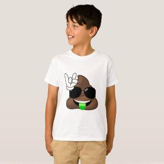 Rock On Emoji Poop T-Shirt