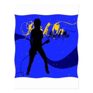 Rock On Guitarist Postcard