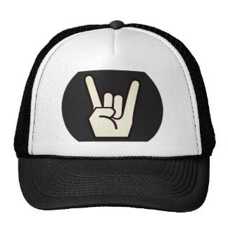 Rock On Heavy Metal Fingers Sign Trucker's Hat