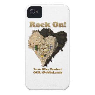 ROCK ON! Love Hike Protect Our Public Lands Case-Mate iPhone 4 Case