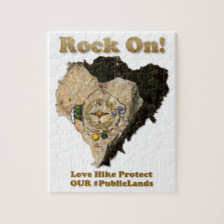 ROCK ON! Love Hike Protect Our Public Lands Jigsaw Puzzle
