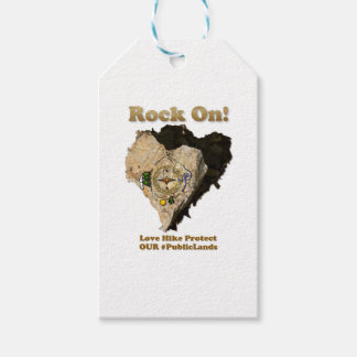 ROCK ON! Love Hike Protect Our Public Lands Pack Of Gift Tags