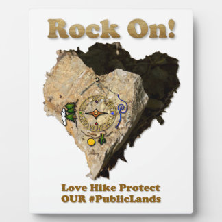 ROCK ON! Love Hike Protect Our Public Lands Plaque