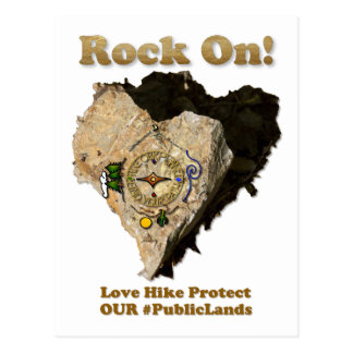 ROCK ON! Love Hike Protect Our Public Lands Postcard