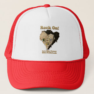 ROCK ON! Love Hike Protect Our Public Lands Trucker Hat