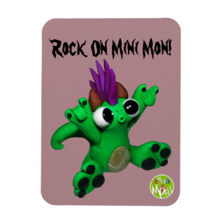 Rock On Mini Mon Magnet