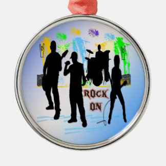 Rock On - Rock n' Roll Band Ornament