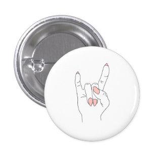 Rock On Round Fashion Button