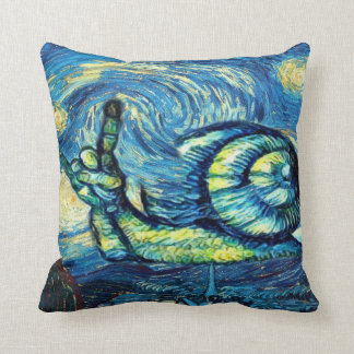 Rock On Snail Throw Pillow