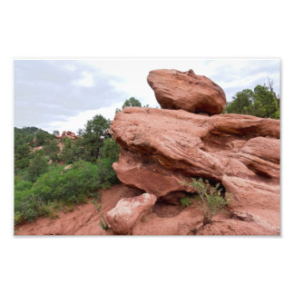 Rock Outcrop at Garden of the Gods Photo Print