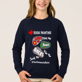 Rock Painting Community Personalized Hashtag Sweatshirt
