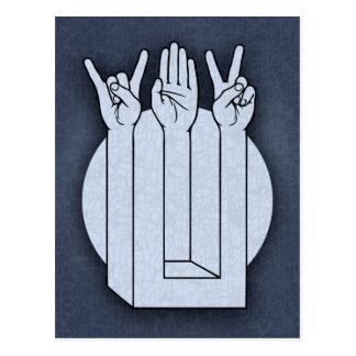 Rock, Paper, Scissors, Enigma Postcard