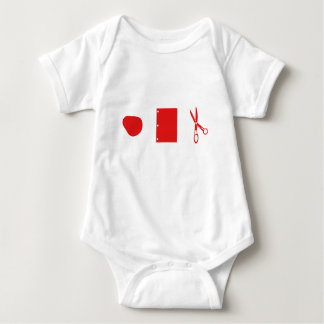 rock paper scissors for baby baby bodysuit