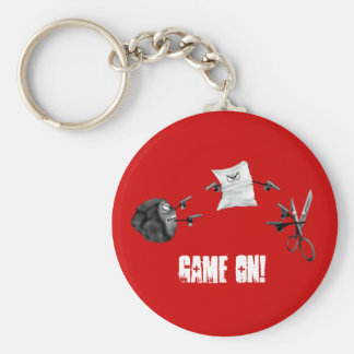 Rock paper scissors,, Game ON! Key Chain