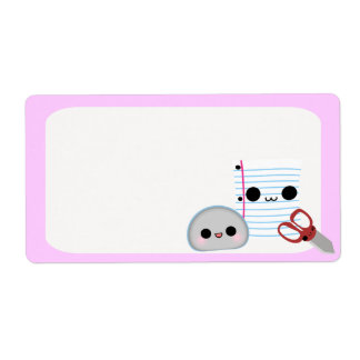 Rock Paper Scissors Personalized Shipping Labels