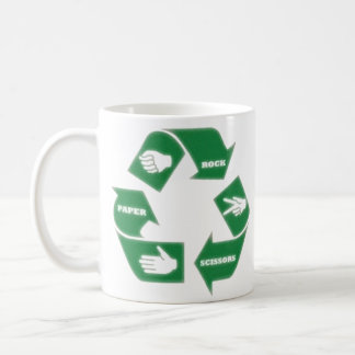 Rock Paper Scissors ~ Recycle! Mug