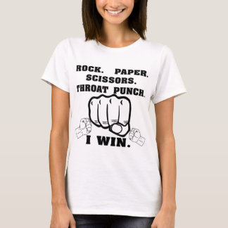 Rock Paper Scissors Throat Punch I Win T-Shirt