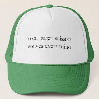 Rock, Paper, Scissors Trucker Hat