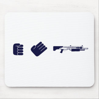 Rock, Paper, Shotgun - Gamer Video Game Gun Mouse Pad
