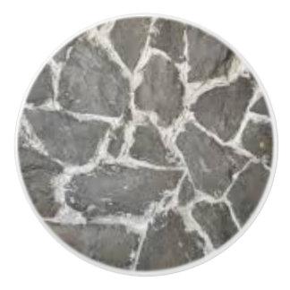 Rock Pattern Ceramic Knob and Door Pulls