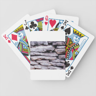 rock pile formed bicycle playing cards