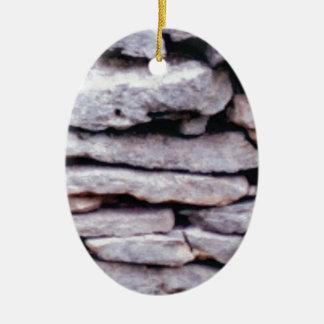 rock pile formed ceramic ornament