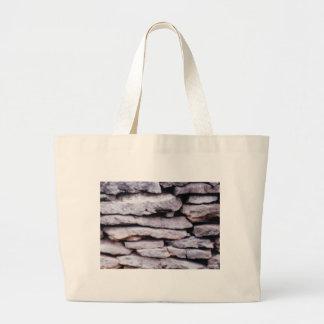 rock pile formed large tote bag