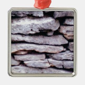 rock pile formed metal ornament
