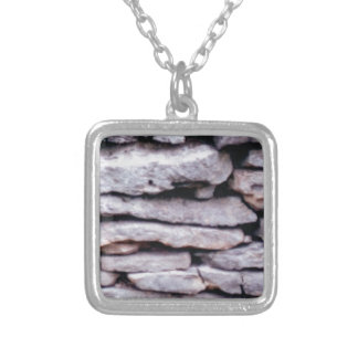 rock pile formed silver plated necklace