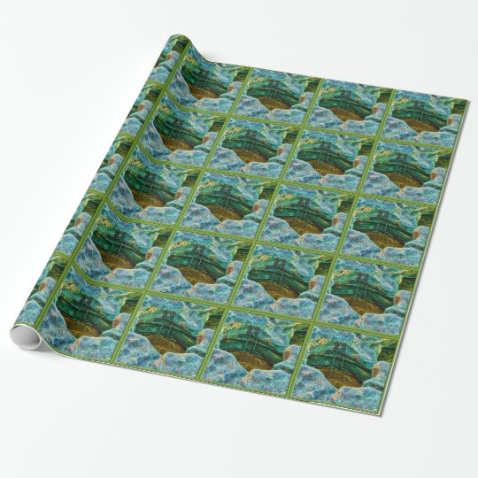 Rock pools at the beach tiled paper