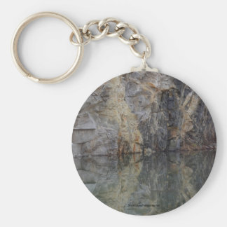 Rock Quarry Wall Reflection #3 Nature Keychain