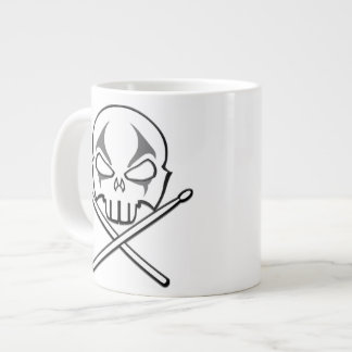 Rock & Roll Cup Heavy Metal Drummer Mugs & Cups Jumbo Mug