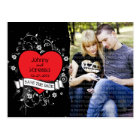 Rock & Roll Grungy Heart Photo Save the Date Postcard