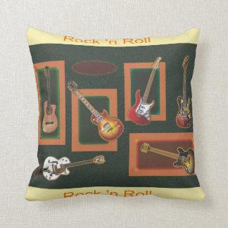 Rock & Roll Guitars Throw Pillow