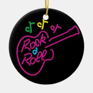 Rock & Roll Neon Ceramic Ornament