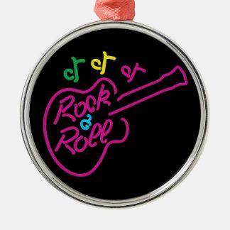 Rock & Roll Neon Metal Ornament