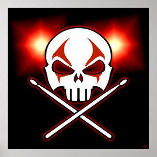 Rock & Roll Poster Heavy Metal Drummer Poster Deco