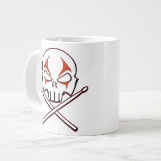 Rock & Roll Water Bottle Heavy Metal Drummer Gifts Jumbo Mug