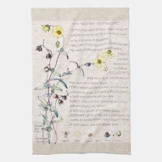 Rock Rose Wildflowers Flowers Kitchen Towels