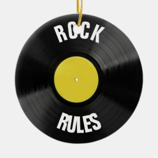 Rock Rules Ceramic Ornament